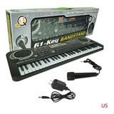Teclado De Piano Eléctrico 61 Clave De Niños Music Electro