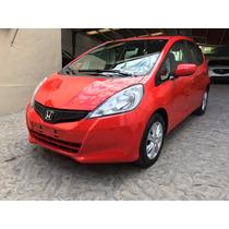 Honda Fit Lx 2014 Rojo Un Dueño