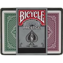2 Decks De Cartas Bicycle Prestige Para Poker 100% Plastico