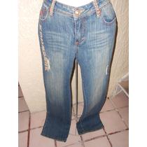 Rocawear***pantalon De Mezclilla Talla 7 Con Pedreria***