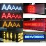 Anuncios Luminosos De Led Con 13 Caracteres 66 X 10 Cm