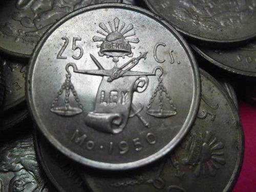 Moneda 25 Centavos Peseta Balanza Plata