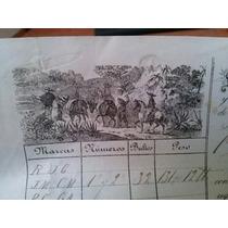 Boleto Factura De Transporte Flete Recua 1893 Tehuacan