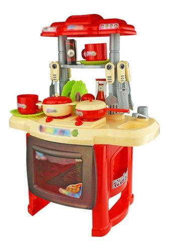 Cocina Cocinita Infantil Juguete Ninos Simulacion Luz Sonido