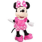 Minnie De Peluche Vestido Rosa  Mide 40 Cm De Alto