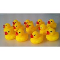 Una Docena (12) Patos De Goma Duckie Mini Baby Shower Favors