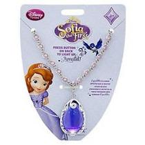 Collar Amuleto De Sofia C/luz Princesas Disney