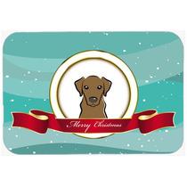 Chocolate Labrador Feliz Navidad De La Cocina O El Baño Mat