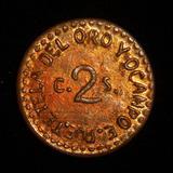 Moneda 2 Centavos 1915 Tetela Oro Ocampo Puebla Revolucion