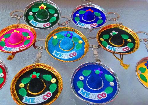 6 Sombrero Mini Charro Llavero Colores Mexico Fiesta Evento b1a3748b605