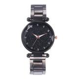 Reloj Mujer Metalicos Corte Diamante Acero Moderno Elegante