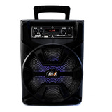 Bocina Bluetooth Bafles Amplificados 8 Pulgadas Recargable Portatil Microfono Larga Duracion Usb Auxiliar Fm Karaoke