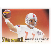 1995 Score Star Struck Drew Bledsoe Qb Patriots