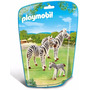 Playmobil 6641 Cebras Con Crias Zoologico Animal Retromex