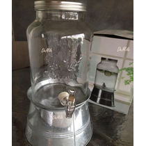 Dispensador De Bebidas Frias Con Base Relieve Tipo Mason Jar