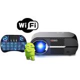 Proyector Led Android Smart Wifi Bluetoot 3500 Lúmen + Tecla