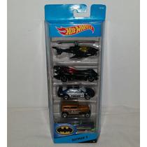 Batman Batimovil Hot Wheels Bati-helicoptero Guason 5 Piezas