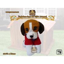 Cachorro Beagle - Figura Artesanal Tejida