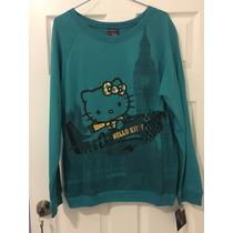 Sudadera Hello Kitty Talla G, Color Verde. Nueva.