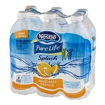 Nestlé Pure Life Splash Mandarina 16,9 Onza Líquida (pack De