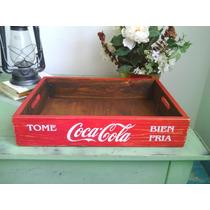 Caja Refrescos Soda Coca Cola Madera Estilo Antiguo Bandeja