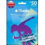 Tarjeta Gift Card Itunes Inglaterra Uk 50 Libras Iphone Ipad