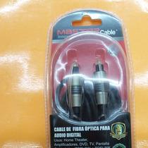 Cable De Fibra Optica Para Audio Difgital 4 Mts Master