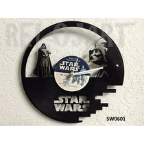 Reloj En Disco De Vinil Star Wars - Increible Y Original