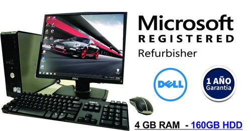 Computadora Intel Core2duo 4gb-250gb- Monitor 19¨ Lcd