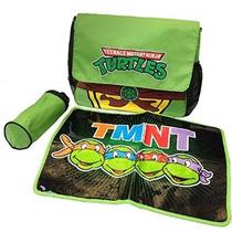 Tmnt Tortugas Ninja Bolsa De Mensajero Del Pañal Set