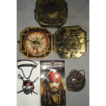 Colección Piratas Del Caribe Brújula- Calavera-moneda Azteca