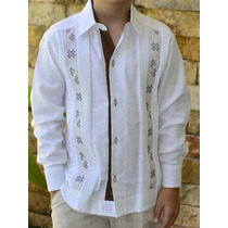 6cd42e9ff0 Camisa Guayabera Yucateca Casual Lino Niño  cfkjorn1211 en venta en ...