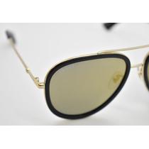 d2a704283 Gucci Gg0062s 001 Aviador Dorado Espejo Negro Original Nuevo en ...