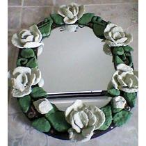 Espejo Decorativo Hecho De Papel Reciclado Varios Diseños