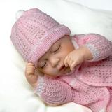Muñeco Bebe Prematuro Dormido 35 Cm