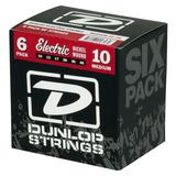 Cuerdas Guitarra Dunlop Electric   Medium Nickel 6 Pack
