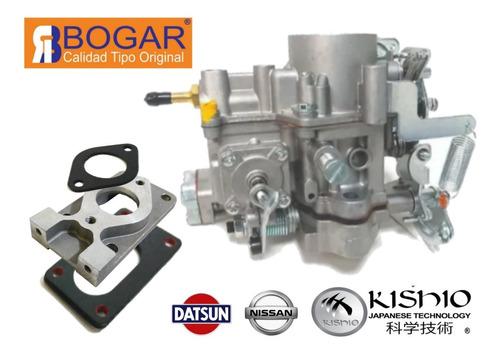 Carburador Y Adaptador 1 Garganta Nissan Pickup 1.8l Datsun  Foto 1
