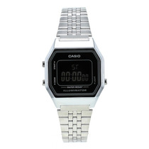 Reloj Casio Para Dama La-680wea-1 Plateado Iluminator