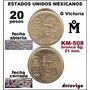 20 Pesos 1985 Mo Guadalupe Victoria 2 Variedades