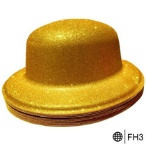 Sombrero Fiestas Bombin Brillo Disfraz Boda Xv Años Eventos