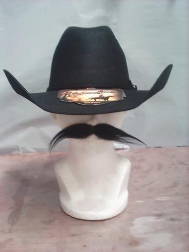 fbdf4cca21b25 Sombrero Texano Negro Unisex Chihuahua Envío Gratis