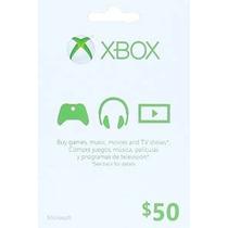 Xbox $ 50 Tarjetas De Regalo [código De Juego Online]