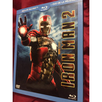 Iron Man 2 Bluray/dvd Nuevo Y Sellado Marvel Fase 1