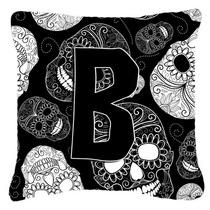 Letra B Día De Los Cráneos Muertos Negro Tela De Lona Almo