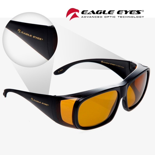033c051b10 Lentes De Sol Eagle Eyes Fit Ons Black-negro Originales!