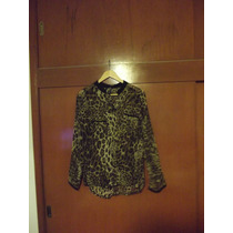 Camisa Manga Larga Animal Print Chica