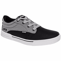 Tenis Newk Casuales H451-01 Negro Gris Pv