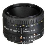 Nikon Lente Nikon Af Nikkor 50mm F/1.8d