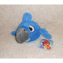 Angry Birds Rio! Peluche De Blu, Super Suavecito! 15cm! Mov4
