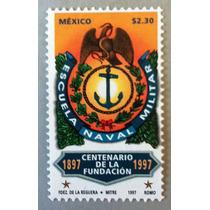 Sello Postal Escuela Naval Militar, México 1997 Estampilla